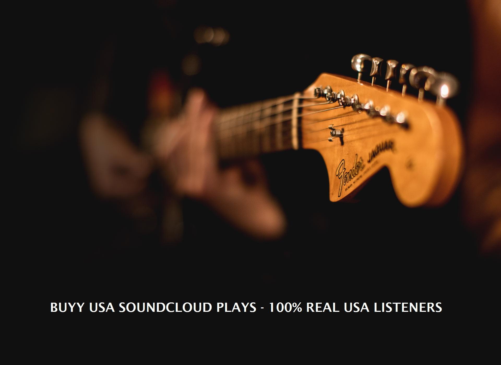 Buy USA SoundCloud Plays