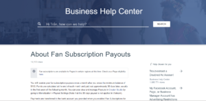 Fan Subscription Payouts