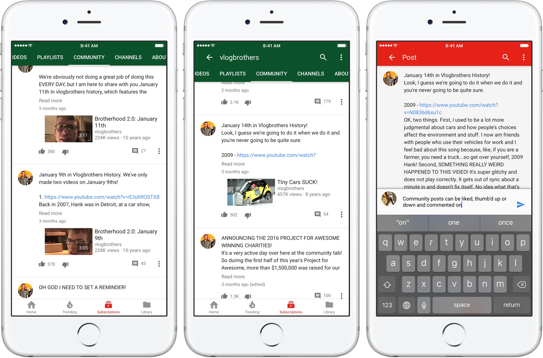 YouTube-for-iOS-community-posts-in-Subscriptions-tab-