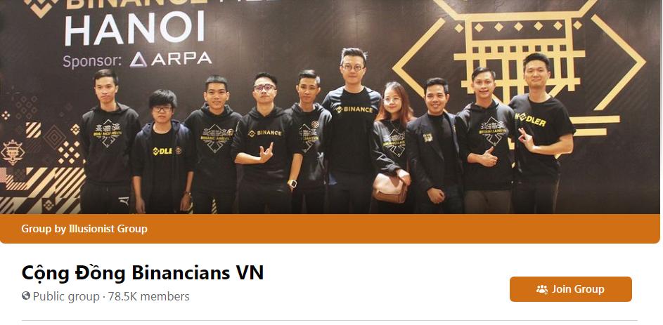 binancians vietnam facebook group members