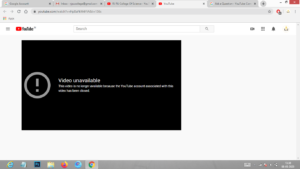 Video unavailable This video is no longer available because the YouTube account associated with this video has been terminated